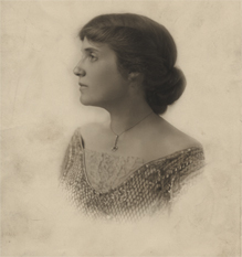 Young Lillian in profile