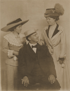 Lillian and Ed and Lillian's mother, Cora Dobbs