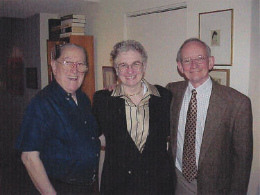 Photo of Ted Kooser with Carol Connor and the late Dr. Norman Geske