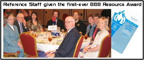 Better Business Bureau Award - 2005