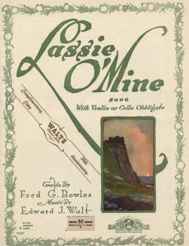 Lassie o' Mine: Song with violin or cello obbligato