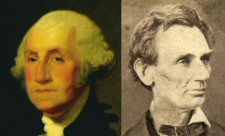 Portraits of George Washington and Abraham Lincoln