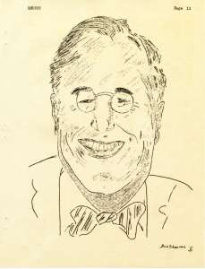 Caricature of President Roosevelt