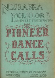 Pioneer Dance Calls folklore pamphlet cover