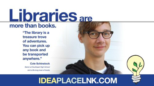 Libraries are more than books: Cole Schinstock, Senior at Southeast High School