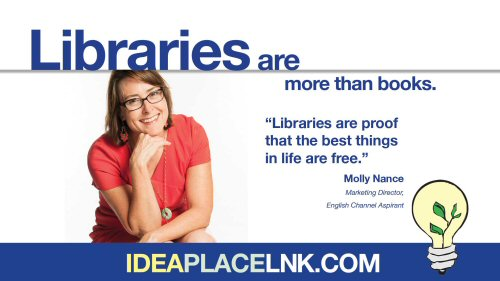 Libraries aer more than books: Molly nance, Marketing Director, English Channel Aspirant