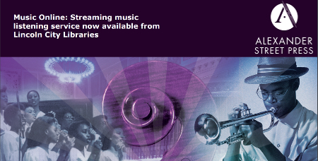 Music Online: Streaming music listening service now available from Lincoln City Libraries