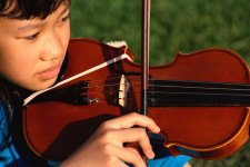 photo: girl with violin