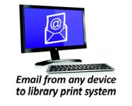 E-mail from any device to library print system