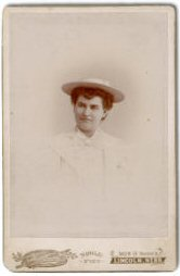 Carte de Visite of Willa Cather from the Heritage Room Archives