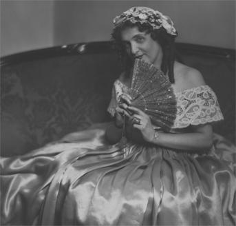 Lillian in colonial costume