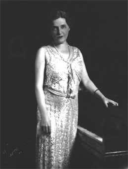Lillian at piano