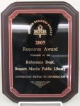 Better Business Bureau Resource Award Plaque