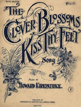 Clover Blossoms Kiss Thy Feet
