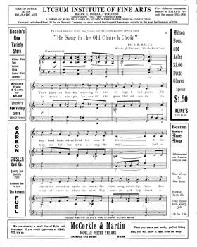 He Sang in the Old Church Choir