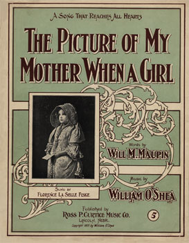 The Picture of My Mother When a Girl