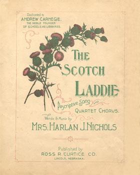 Scotch Laddie: Descriptive Song and Quartet Chorus