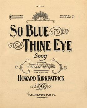 So Blue Thine Eye