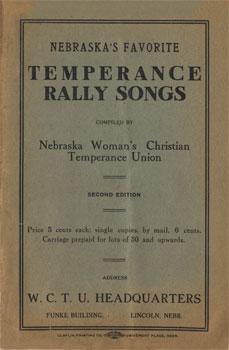 Nebraska's Favorite Temperance Rally Songs: Second Edition