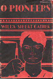 Cover illustration from Willa Cather's O' Pioneers