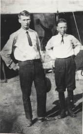 Photo: Herbert and Rudi Umland at the Nebraska State Fair in September, 1920