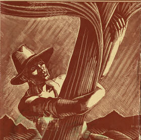 Detail of Joseph Di Gemma's cover art for the Nebraska State Guide