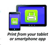 Print from your tablet or smartphone app