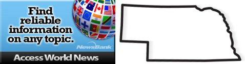 Access World News logo with outline of Nebraska