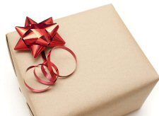 photo of a gift-wrapped box